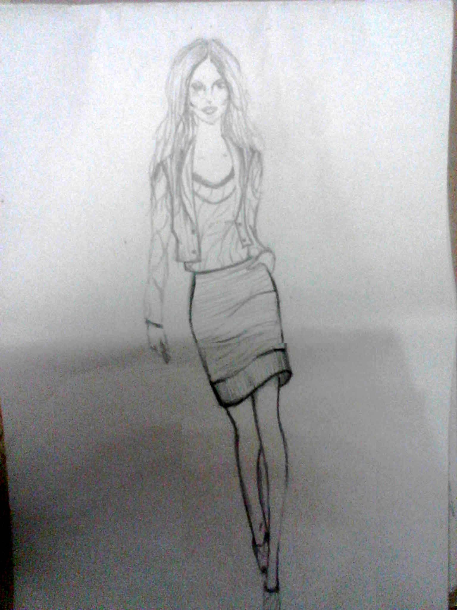d7171f628 تصميم ازياء. رسم بالقلم الرصاص