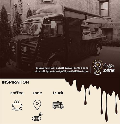 شعار coffee zone ( منطقة القهوة )