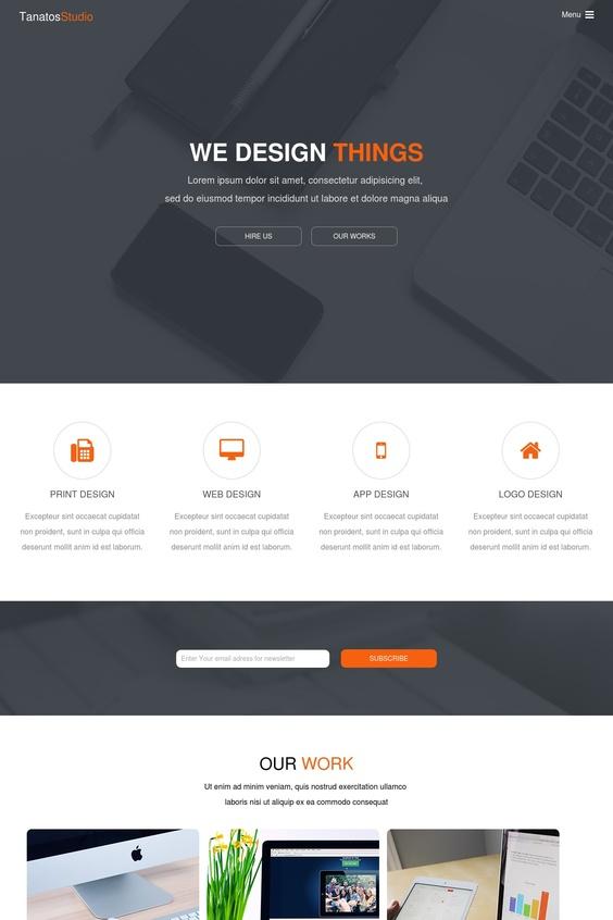 قالب موقع مصمم ب html , CSS , jqery