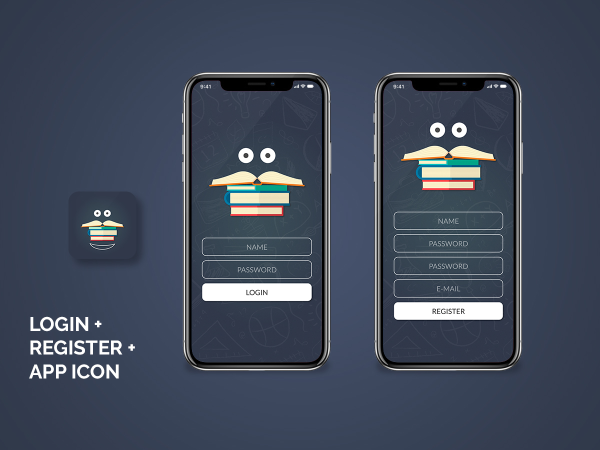 Library Login   Register and App Icon   مستقل