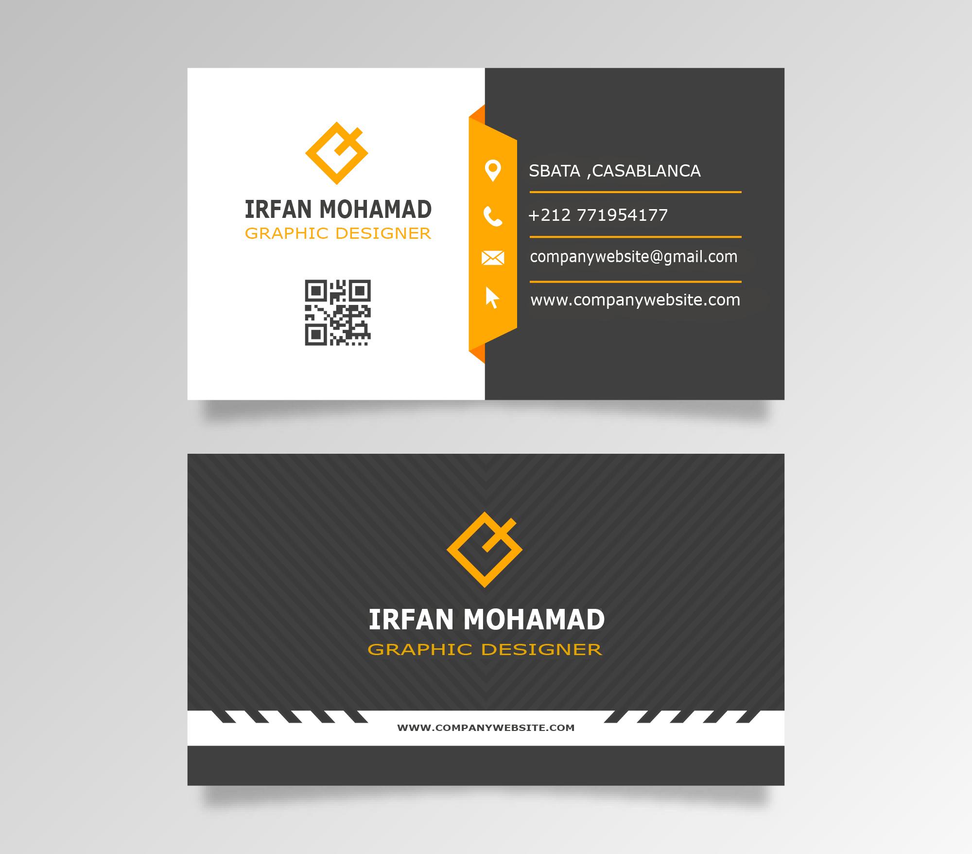 تصميم بطاقة أعمال (شخصية) **business card**
