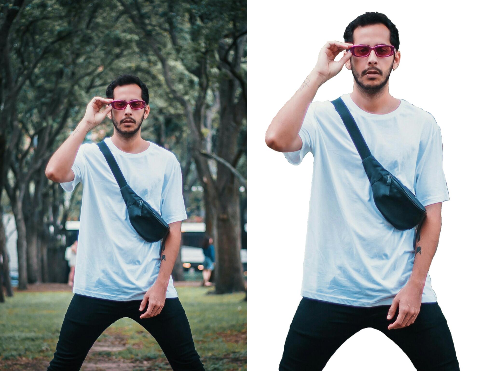 تحويل و تصميم خلفية اي صورة الى شفافة او بيضاء مستقل
