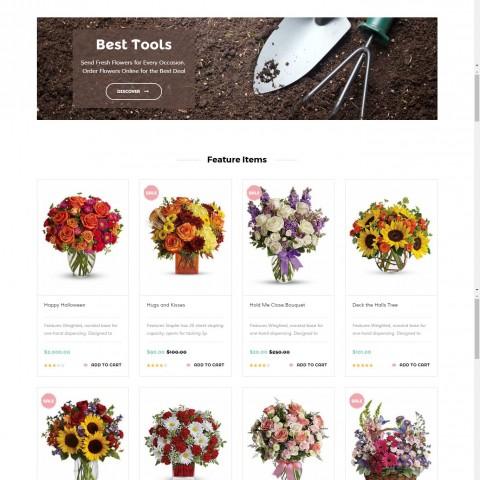 تصميم متجر الكتروني لبيع الزهور وتغليف الهدايا – تصميم متجر مناسباتي