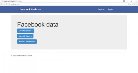 جلب بيانات احصائية عن المستخدم في الفيبسوك