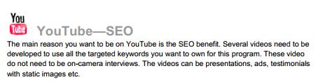 جزء من خطة تسويقية لادارة قناة على يوتيوب