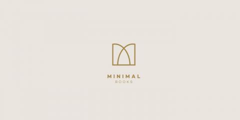 minimal book logo