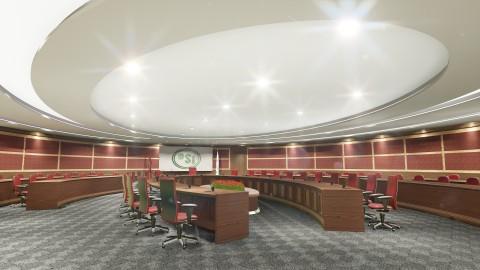 تصميم قاعة الاجتماعات