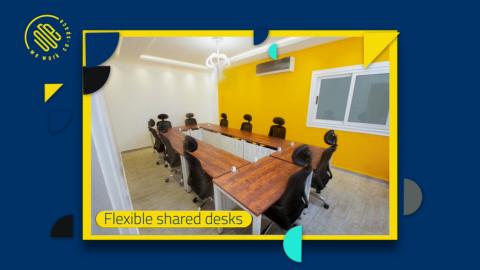 غلاف slide show موشن جرافيك لصفحة We Work    بدون صوت