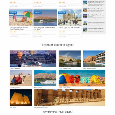 Havana Travel Egypt ( موقع سياحة )