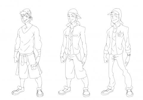 تصميمات كرتونية مختلفة لشخصيات شابة