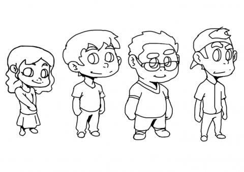 شخصيات أطفال كرتونية