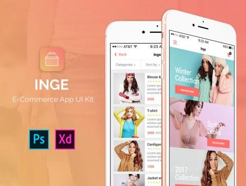 إنجي – قالب تطبيق متجر إلكتروني
