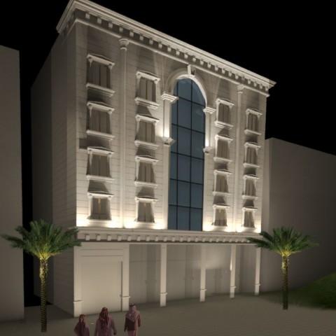 تصميم واجهة فندق كلاسيك