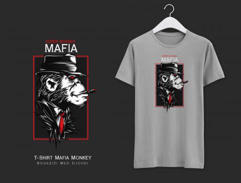 T-Shirt Mafia Monkey