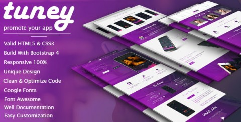 Tuney | App Landing Page
