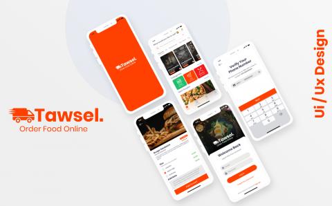 تصميم واجهة لتطبيق توصيل للمطاعم