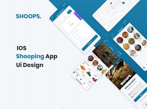 تصميم واجهة لتطبيق للتسوق