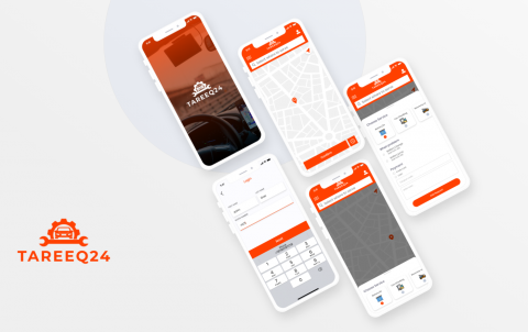 تصميم واجهة لتطبيق لطلب الصنايعي أون لاين
