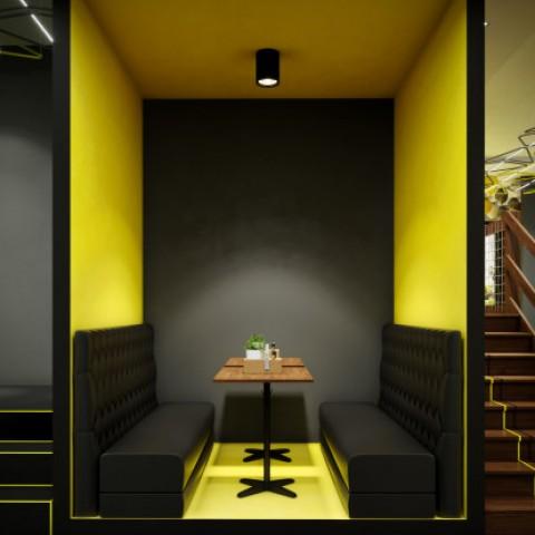 تصميم داخلي لمطعم   restaurant interior design