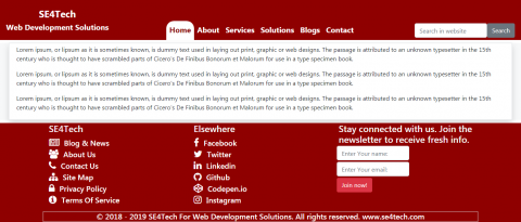 SE4Tech Website