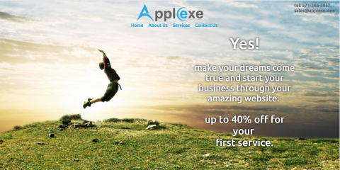 إنشاء و تصميم موقع شركة Applexe LCC لخدمات الويب و البرمجيات