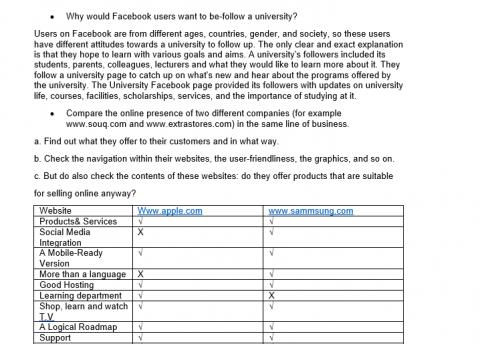 E-Marketing Assignment