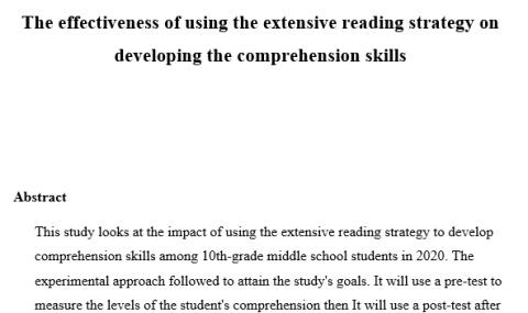 كتابة مقترح بحث أكاديمي لطلبة الجامعة باللغة الإنجليزية