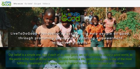 صفحة هبوط لمنظمة خيرية