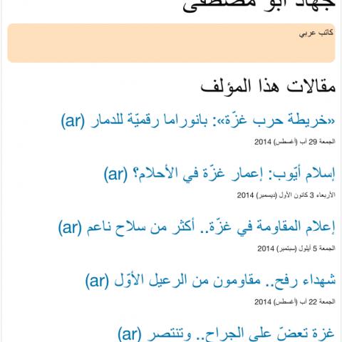 قائمة بجميع مقالاتي في مجلة الموقف العربية