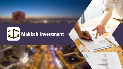 تصميم بوربوينت لشركة مكة للاستثمار