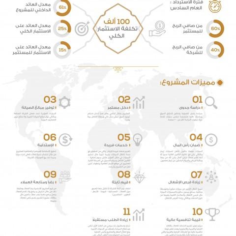 انفوجرافيك لمشروع  استثماري