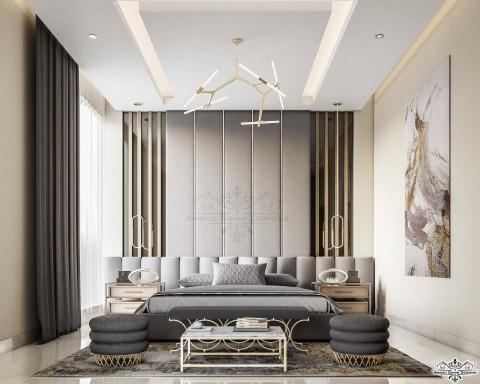 تصميم مودرن لغرفة نوم رئيسية