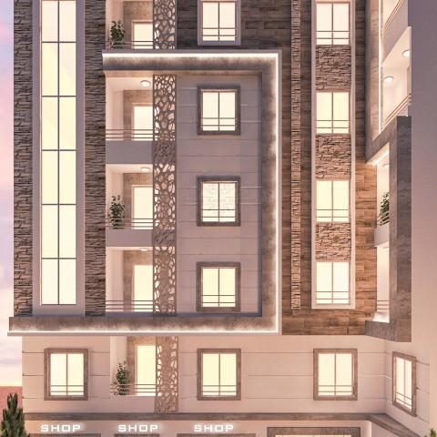تصميم مودرن لعمارة سكنية