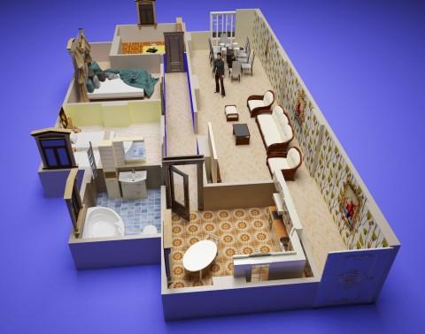 Apartment 3D Plan