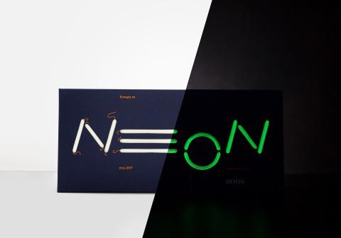 Neon business card design