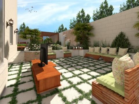 تصميم حديقة منزل صغيرة