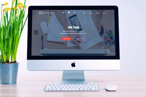 redesign اعادة تصميم موقع شركه Me Task لخدمات التصميم و البرمجه متوافق مع كل الاجهزة و احجام الشاشات