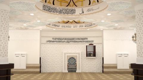 تصميم 3D  ثلاثي أبعاد لمسجد في الرياض