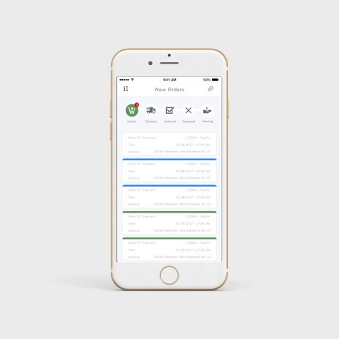 تصميم تطبيق موبايل لعامل توصيل البيتزا - Pizza Driver App
