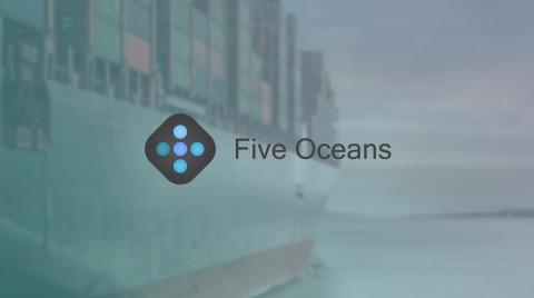 هوية بصرية لشركة Five Oceans