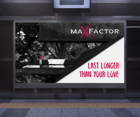 billboards for maXfactor - حملة دعائية لشركة ماكس فاكتور