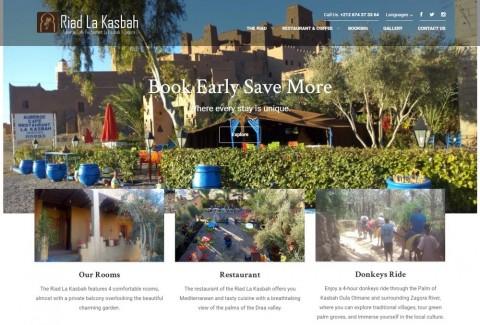 Riad La Kasbah Website Development