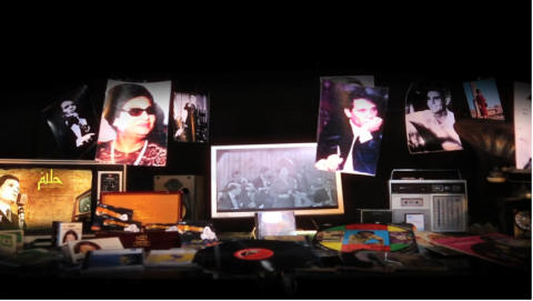 اعلان لصفحة اليوتيوب الخاصه بالسيده ام كلثوم والفنان عبد لحليم حافظ