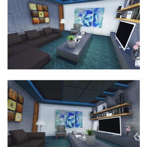 عمل تصميمات معمارية 3d  بالابعاد الثلاثة وديكورات منزلية واللوحات الهندسية