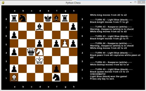 لعبه شطرنج بأستخدام الذكاء الاصطناعي (AI)