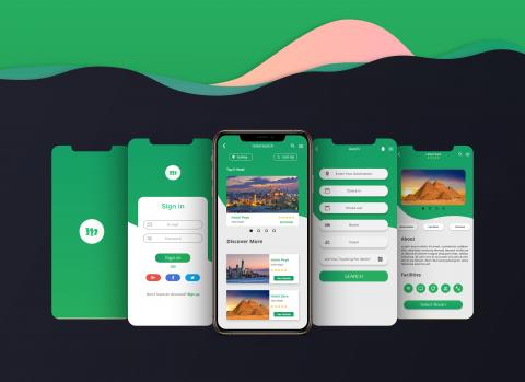 تصممي واجهة تطبيق Booking Hotel App