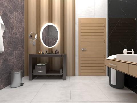 تصميم داخلي لحمام بمساحة 10.5 متر مسطح
