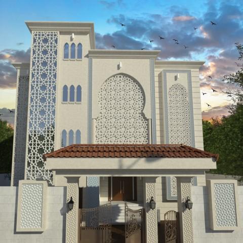 تصميم واجهه اندلسية بالسعودية 2