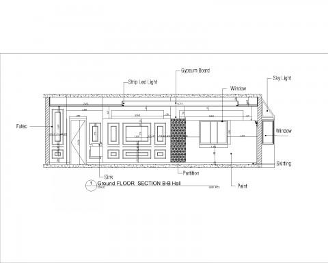 عمل شوب دروينج معماري لفيلا 4 طوابق بالسعودية