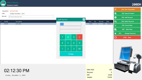 Pos system windows application
